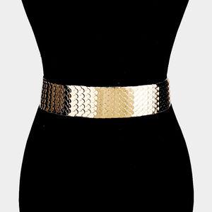 Embellished Metal Mermaid Stretch Belt
